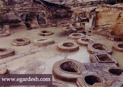 چاه های تاریخی طلا قشم