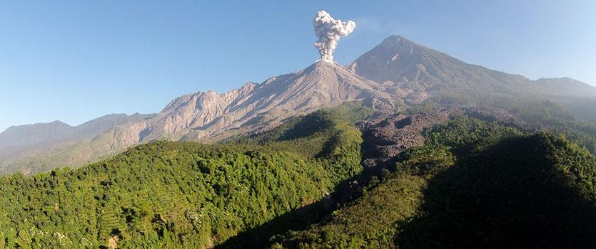 ماجراجویی در کنار کوه آتشفشان فعال