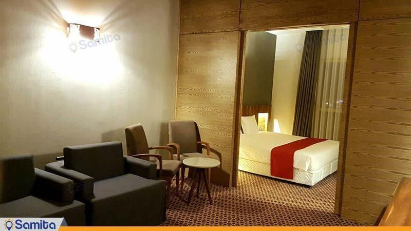 اتاق دو تخته پارتیشن دار هتل میزبان