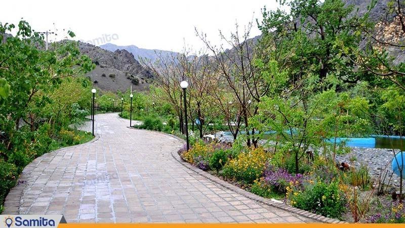 فضای سبز هتل بزرک کوهستان بیرجند