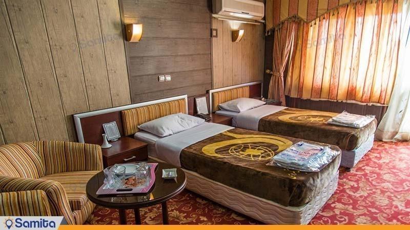 اتاق دو نفره هتل جهانگردی دلوار