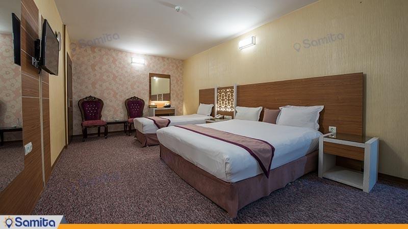 اتاق سه تخته نقره ای هتل آوین