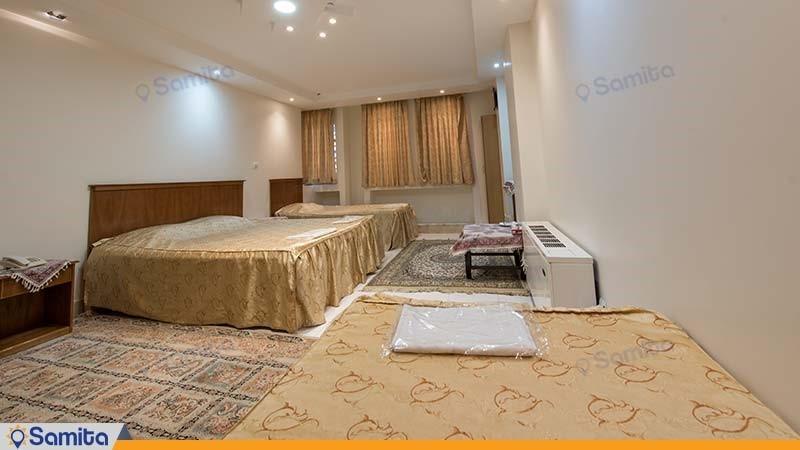 اتاق چهار تخته هتل ملک