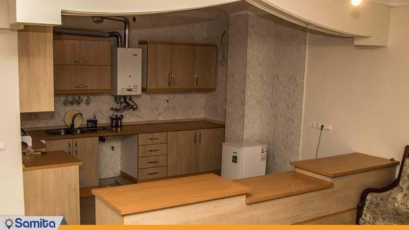 آشپزخانه آپارتمان هتل آپارتمان شروین