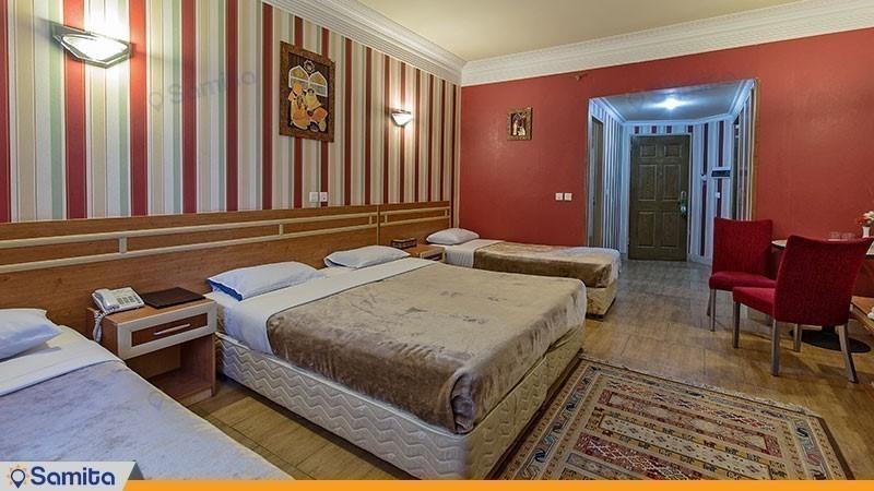 اتاق چهار تخته هتل سپاهان