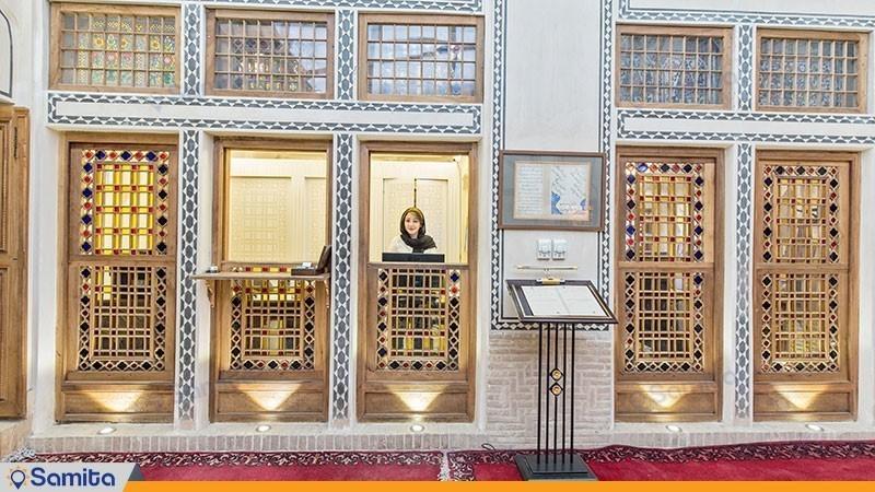 پذیرش هتل سنتی مهین سرای راهب