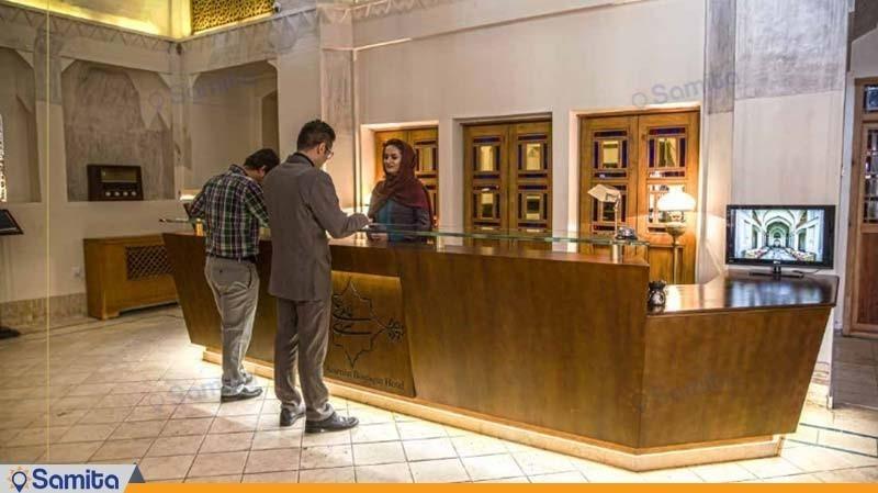 پذیرش هتل بوتیک سرای عامری ها