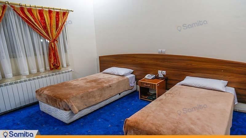 اتاق دو تخته هتل جهانگردی ماهان