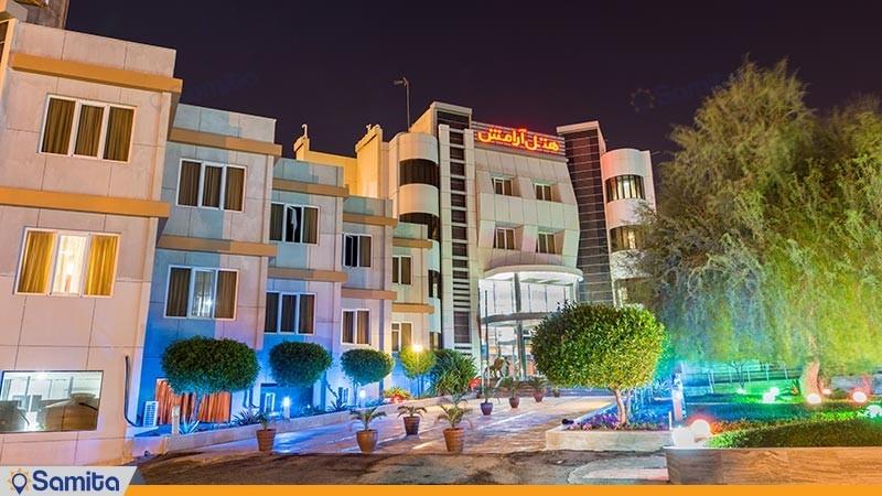 نمای ساختمان هتل آرامش
