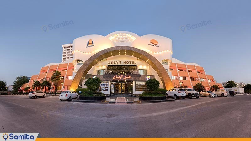 نمای ساختمان هتل آریان
