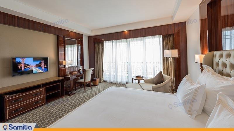 اتاق دو تخته لوکس رو به باغ هتل داریوش