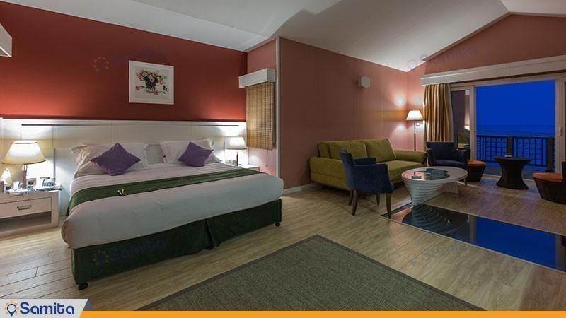 اتاق دو تخته رو به غروب هتل دریایی ترنج
