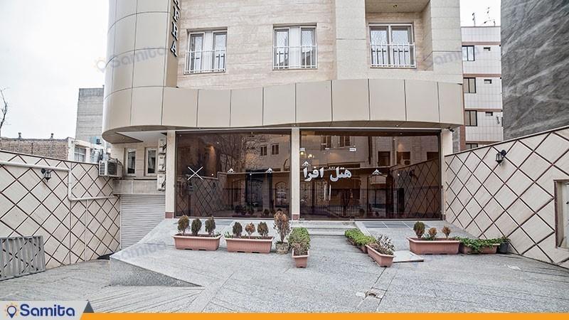 ورودی هتل آپارتمان افرا