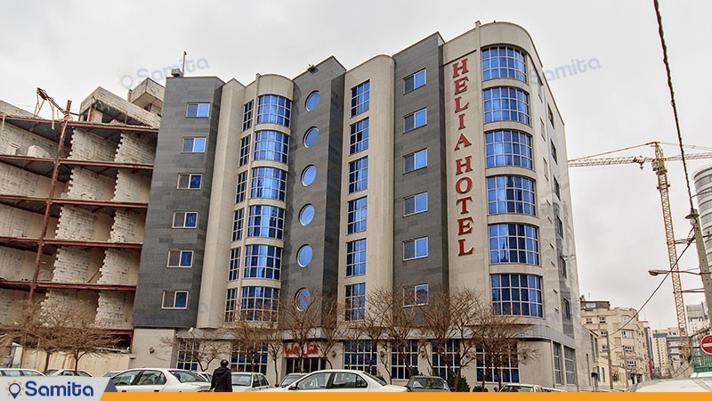 نمای ساختمان هتل هلیا مشهد