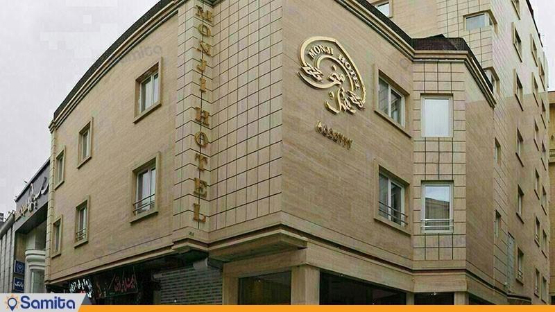 نمای ساختمان هتل منجی