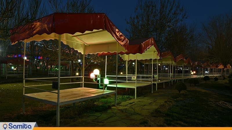محوطه نشیمن فضای باز هتل پارس مشهد