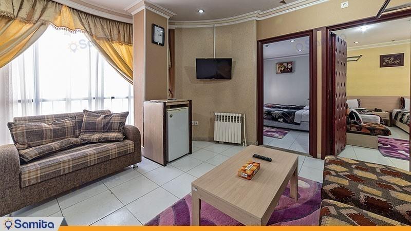 آپارتمان دو خوابه کانکت  هتل آپارتمان قصر آیدین