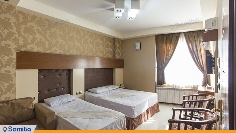 اتاق سه تخته هتل آپارتمان رسالت