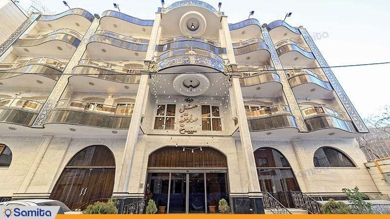 نمای ساختمان هتل صادقیه مشهد