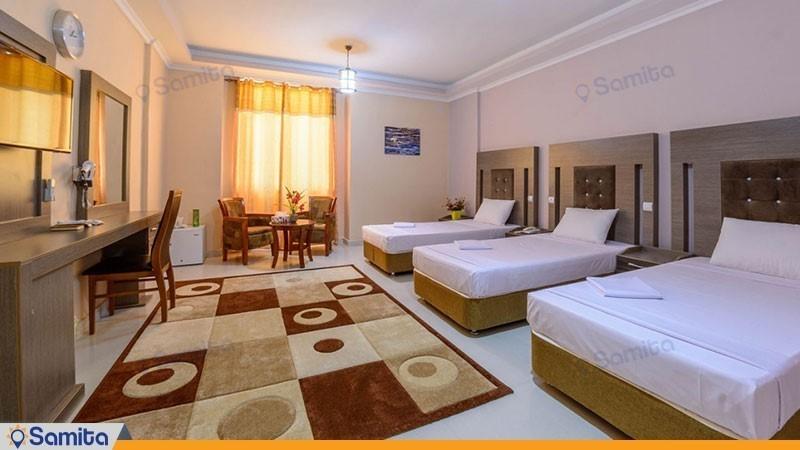 اتاق سه تخته با ویو دریا هتل ارم قشم