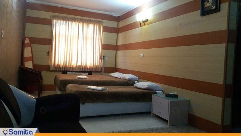 اتاق سه تخته هتل شمس قشم
