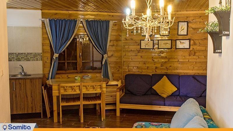 کلبه جنگلی دو نفره هتل بام سبز
