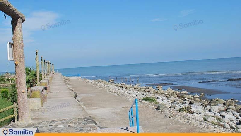ساحل اختصاصی هتل آپارتمان کوثر رامسر