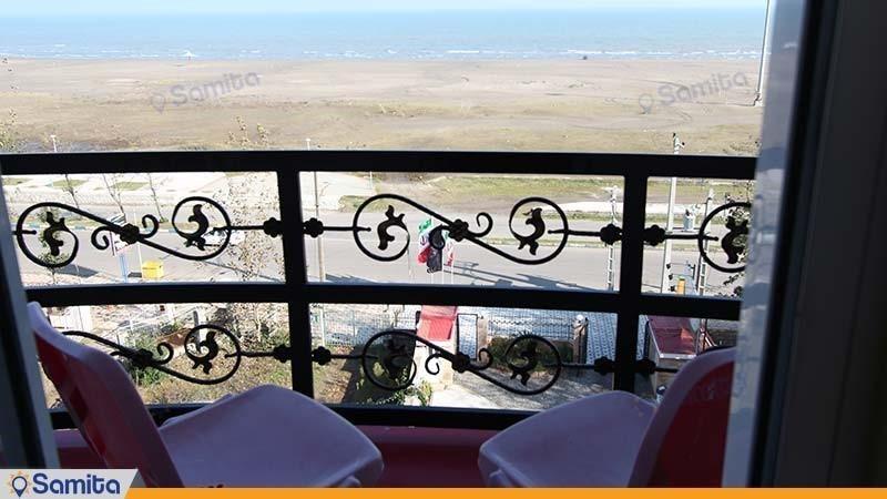 تراس سوئیت دبل با نمای ساحل هتل بهار رودسر