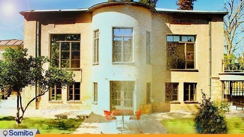 نمای ساختمان اقامتگاه بوم گردی خانه باغ ایرانی