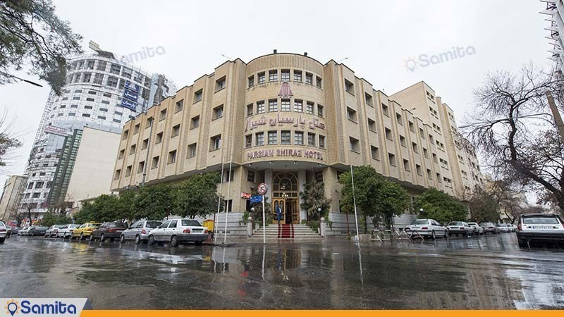نمای ساختمان هتل پارسیان شیراز