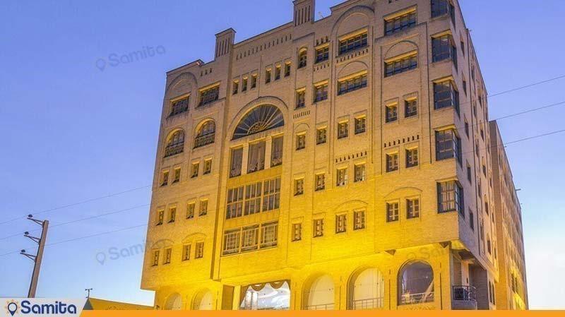 نمای ساختمان هتل آپارتمان شمس شیراز