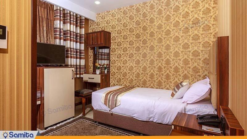 اتاق یک نفره هتل بهار تهران