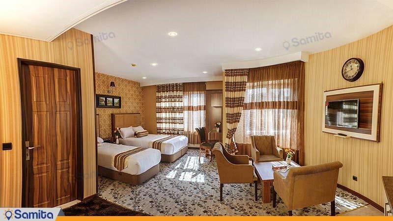 اتاق دو نفره هتل بهار تهران