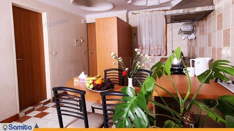 آشپزخانه اتاق هتل آپارتمان کیمیا