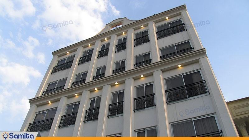 نمای ساختمان هتل آپارتمان مدیا