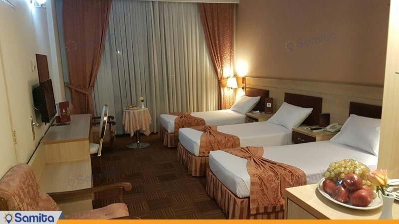 اتاق سه تخته هتل پارسیان کوثر تهران
