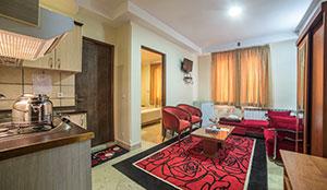 آپارتمان یک خوابه دو نفره با دو سرویس اضافه