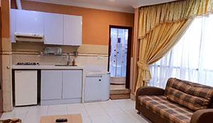 آپارتمان یک خوابه پنج تخته سونا دار
