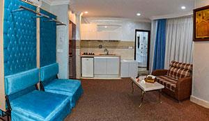 آپارتمان یک خوابه چهار تخته سونا دار