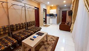 آپارتمان یک خوابه شش تخته
