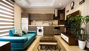 آپارتمان یک خوابه ی دو نفره