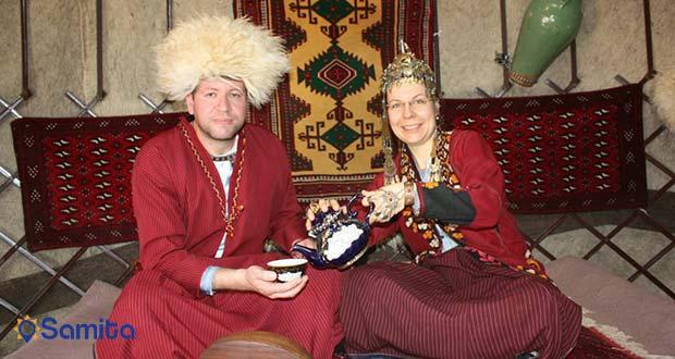 گردشگران خارجی در ترکمن صحرا