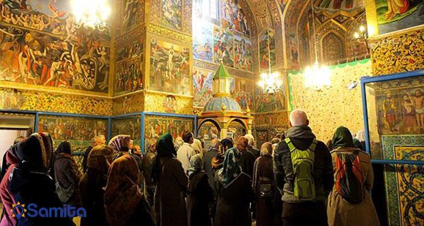 مراسم دعا در کلیسای وانک