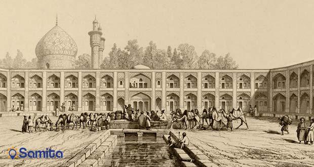 تصویر قدیمی از مهمانسرای عباسی