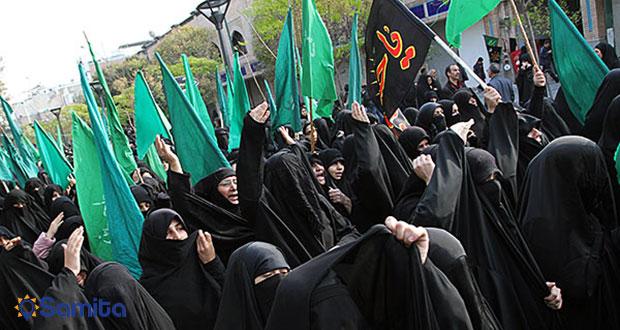 دسته عزاداری زنان عرب در محرم