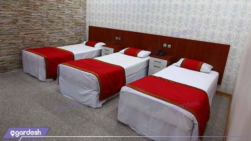 اتاق سه نفره هتل ایران اهواز