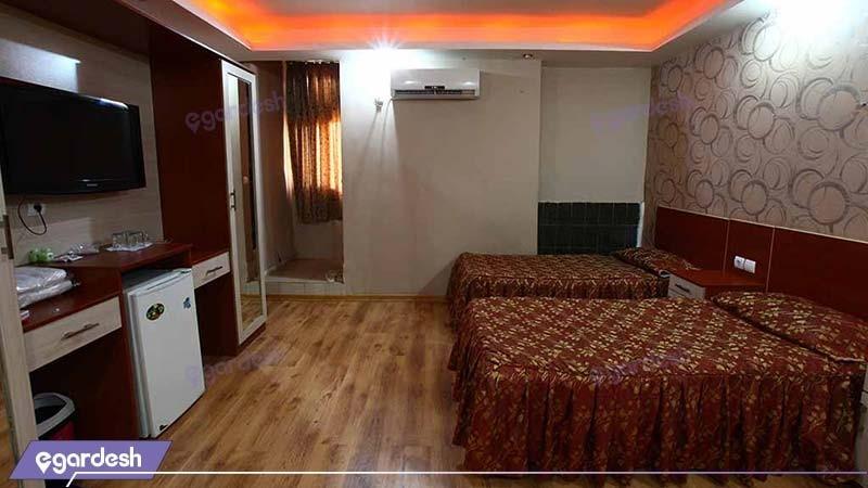اتاق دو نفره هتل ایران اهواز