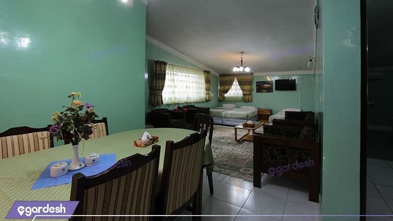 اتاق چهار نفره هتل جهانگردی آستارا