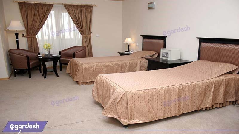 اتاق دو تخته هتل بین المللی خلیج فارس