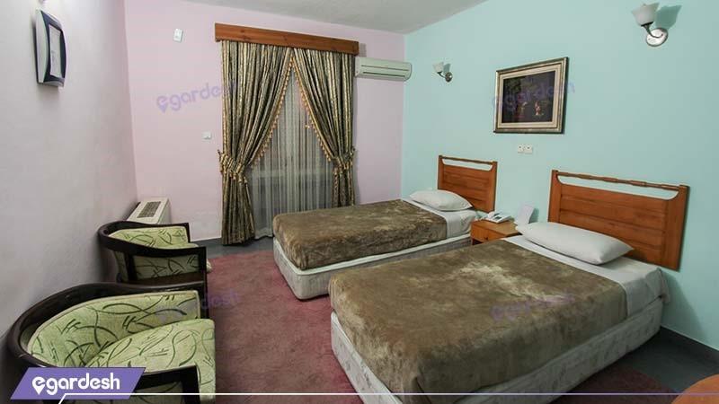 اتاق دو تخته هتل جهانگردی نمونه